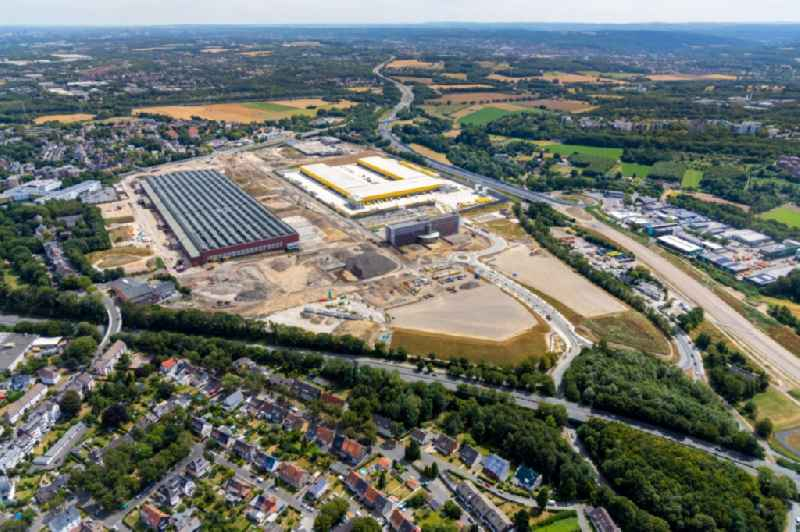 Development area of Areal MARK 51A?7 on the site of the former Opelwerk in Bochum in the federal state of North Rhine-Westphalia, Germany. Further information at: Bochum Perspektive 2022 GmbH.