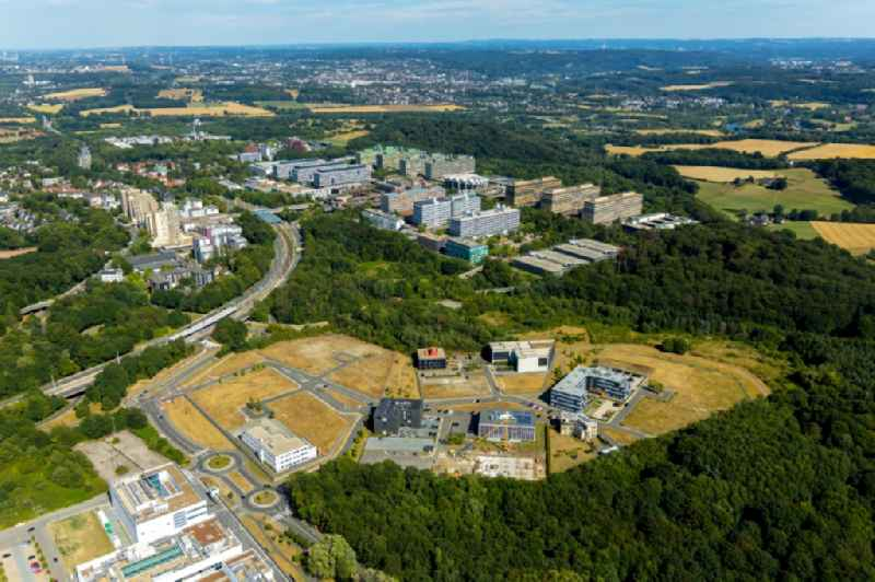 Grounds of the 'Innovation Center Health Economy' on the Gesundheitscampus in the district Bochum South in Bochum in the state of North Rhine-Westphalia.