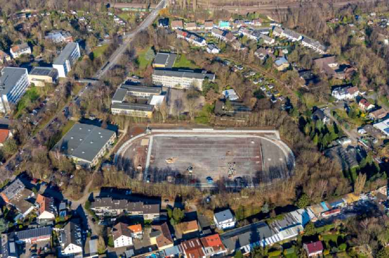 Construction of new Ensemble of sports grounds at the 'Annette-von-Droste-Huelshoff-Schule' on Lohring in the district Innenstadt in Bochum in the state North Rhine-Westphalia, Germany