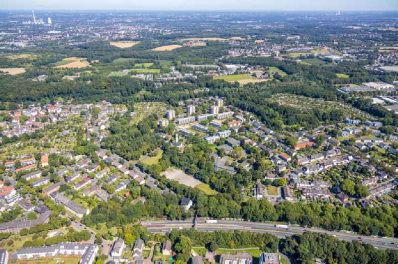 Outskirts residential along the Josephinenstrasse in the district Grumme in Bochum in the state North Rhine-Westphalia, Germany