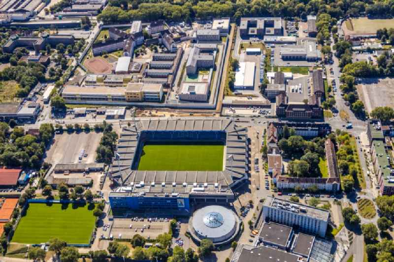 Sports facility grounds of the Arena stadium 'Vonovia Ruhrstadion' formrtly rewirpowerSTADION also Ruhrstadion on Castroper Strasse in Bochum in the state North Rhine-Westphalia