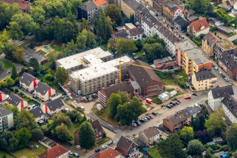 Construction site of a new build retirement home on Ludwig-Steil-Strasse in the district Wattenscheid in Bochum in the state North Rhine-Westphalia, Germany