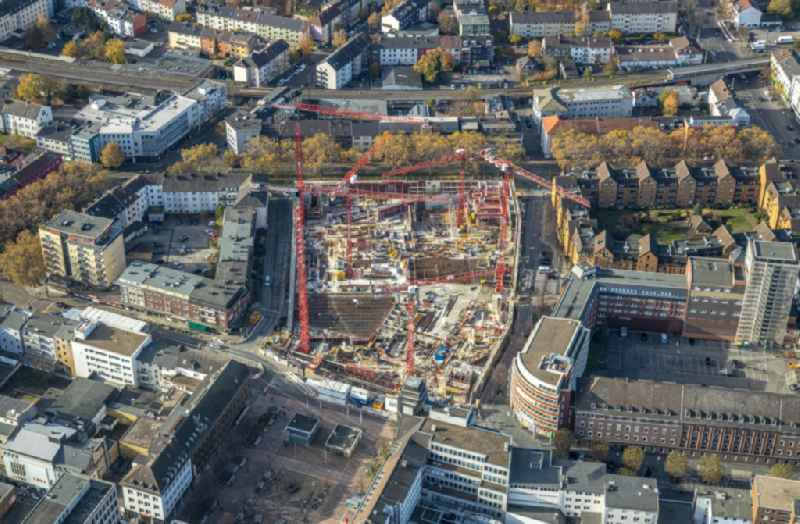 Construction site for the multi-family residential building ' Stadtquartier on Viktoriastrasse ' in the district Innenstadt in Bochum in the state North Rhine-Westphalia, Germany
