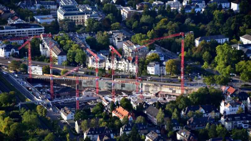 Building site office building ' Neuer Kanzlerplatz ' on Kaiserstrasse - Reuterstrasse in the district Gronau in Bonn in the state North Rhine-Westphalia, Germany