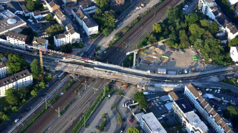 New construction of the bridge structure ' Viktoriabruecke ' in the district Weststadt in Bonn in the state North Rhine-Westphalia, Germany
