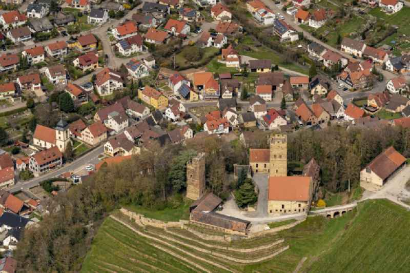 Castle of Burg Neipperg in Brackenheim in the state Baden-Wuerttemberg, Germany