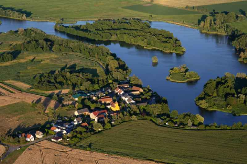 Village on the river bank areas the Havel in Brandenburg an der Havel in the state Brandenburg, Germany