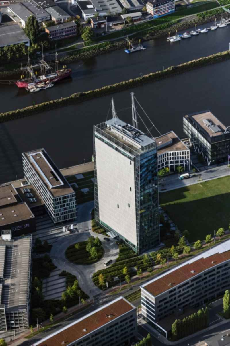 Office and corporate management high-rise building ' Wesertower ' Am Weser-Terminal in Bremen, Germany