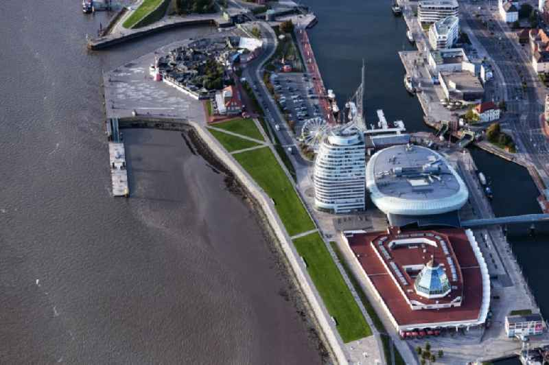Atlantic Hotel 'Sail City' and Klimahaus in Bremerhaven in the state of Bremen