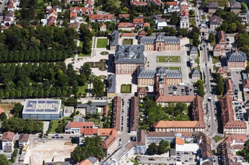 Building complex in the park of the baroque castle Schloss Bruchsal in Bruchsal in the state Baden-Wuerttemberg
