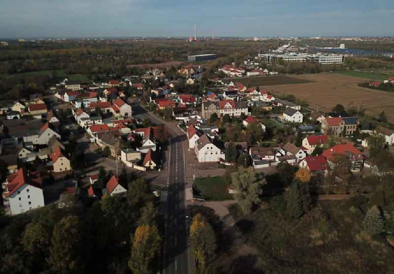 Village view in Bruckdorf in the state Saxony-Anhalt, Germany