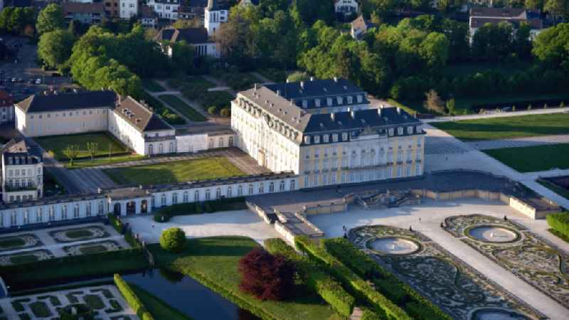 View of the Augustusburg Castle in Bruehl in North Rhine-Westphalia
