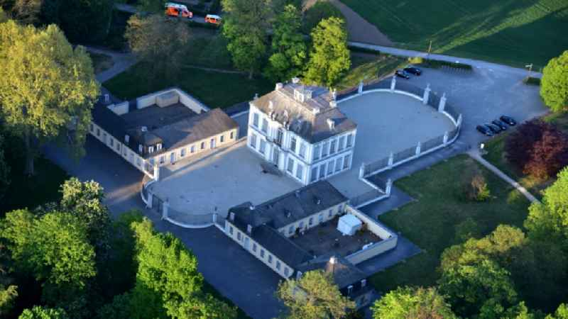 Castle Park and Castle Falkenstein Castle in Bruehl, in North Rhine-Westphalia. The castle is one of the most important buildings of the Baroque and Rococo in Germany and is registered with the Castle Park in the list of UNESCO World Heritage Sites