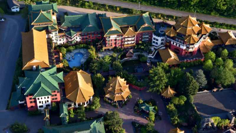 Grounds of the Phantasialand theme park in Bruehl in the Rhineland in the state of North Rhine-Westphalia