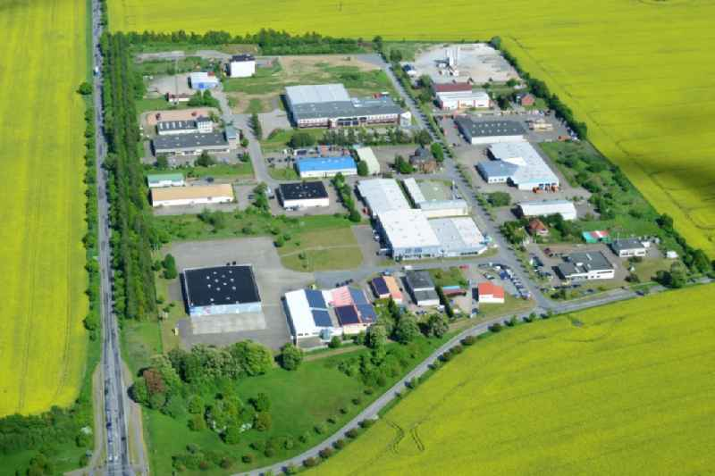 Industrial estate and company settlement in Bruesewitz in the state Mecklenburg - Western Pomerania.