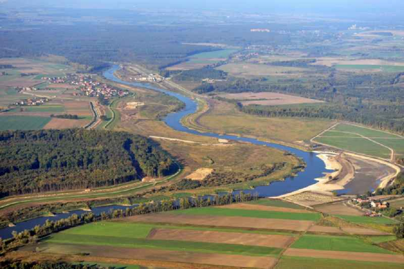 The Oder in the Brzeg Dolny in the Lower Silesia