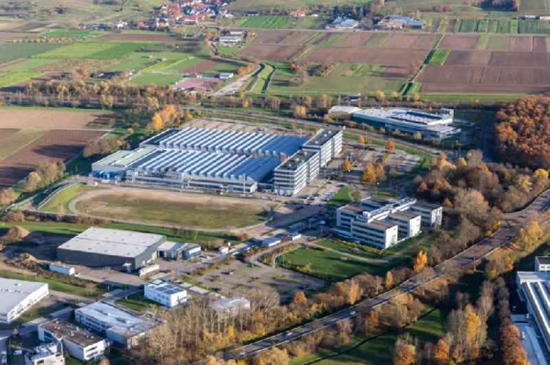 Buildings and production halls on the vehicle construction site of Schaeffler Automotive Buehl GmbH & Co. KG in Buehl in the state Baden-Wurttemberg, Germany