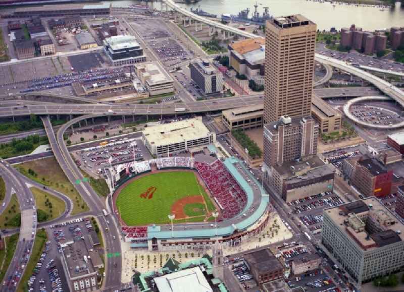Sports facility grounds of the Arena Buffalo Bisons Baseball Stadium in Buffalo in New York, United States of America.