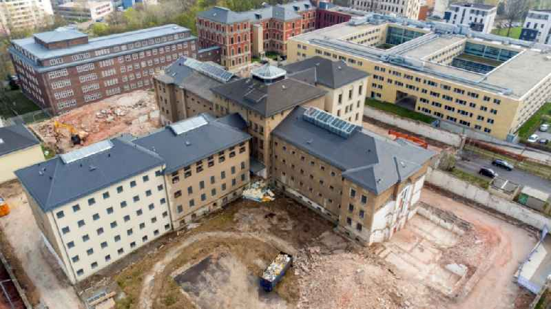 Former correctional prison facility ond demolition work in the district Kassberg in Chemnitz in the state Saxony, Germany