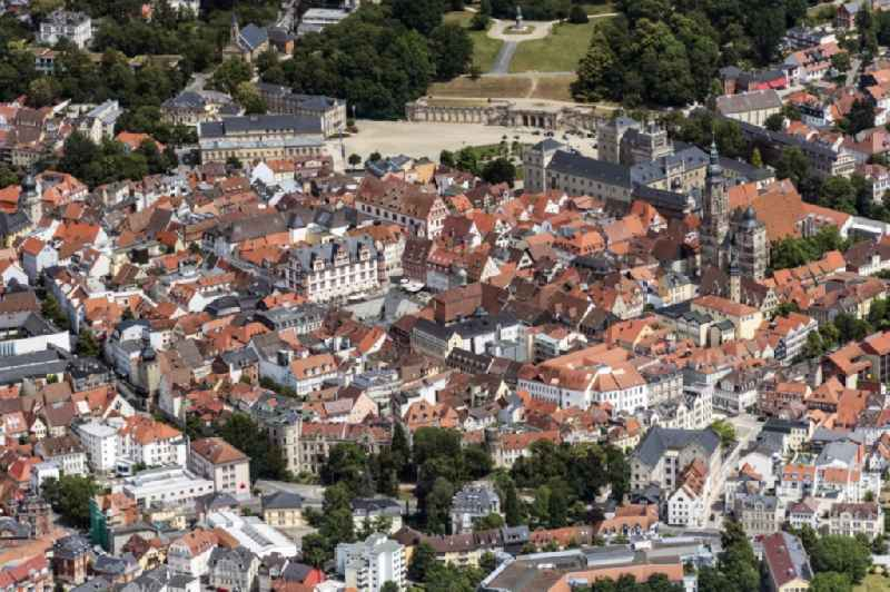 Old Town area and city center in Coburg in the state Bavaria, Germany