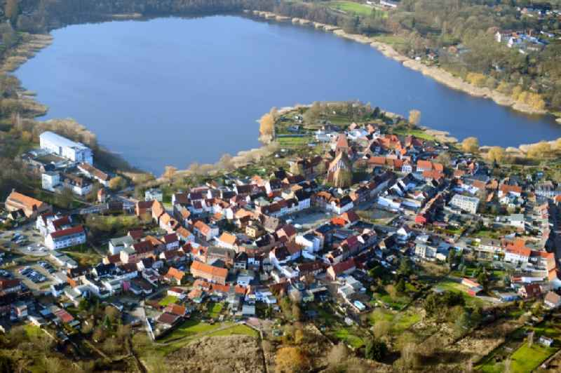 Village on the banks of the area on Crivitzer See in Crivitz in the state Mecklenburg - Western Pomerania, Germany