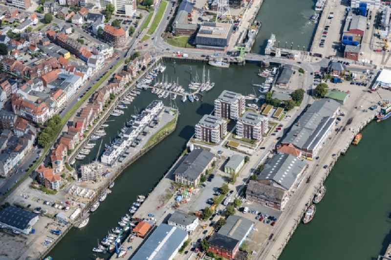 Sailhabour ' City-Marina Cuxhaven Yachthafen ' in the harbor in Cuxhaven in the state Lower Saxony, Germany