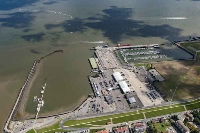 Sailhabour ' Cuxhaven Faehrhafen ' in the harbor in Cuxhaven in the state Lower Saxony, Germany