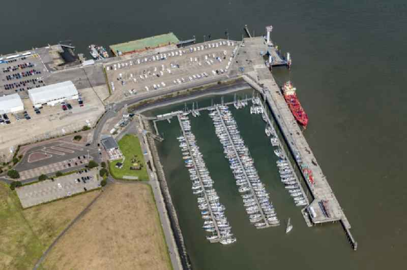 Sailhabour ' Segler-Vereinigung Cuxhaven e. V. ' in the harbor in Cuxhaven in the state Lower Saxony, Germany