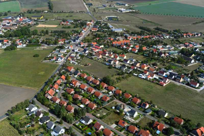 Town View of the streets and houses of the residential areas in Dannigkow in the state Saxony-Anhalt, Germany