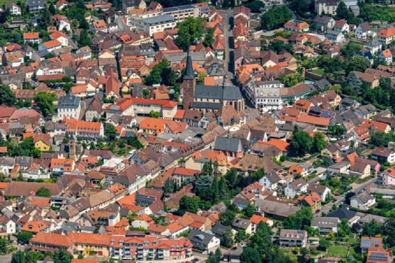 Town View of the streets and houses of the residential areas in Deidesheim in the state Rhineland-Palatinate, Germany