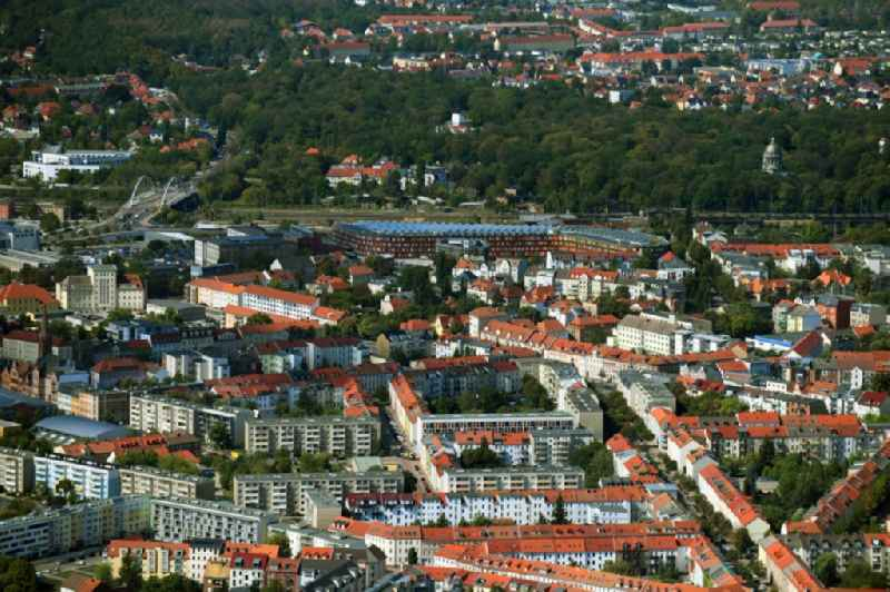The city center in the downtown area in Dessau in the state Saxony-Anhalt, Germany