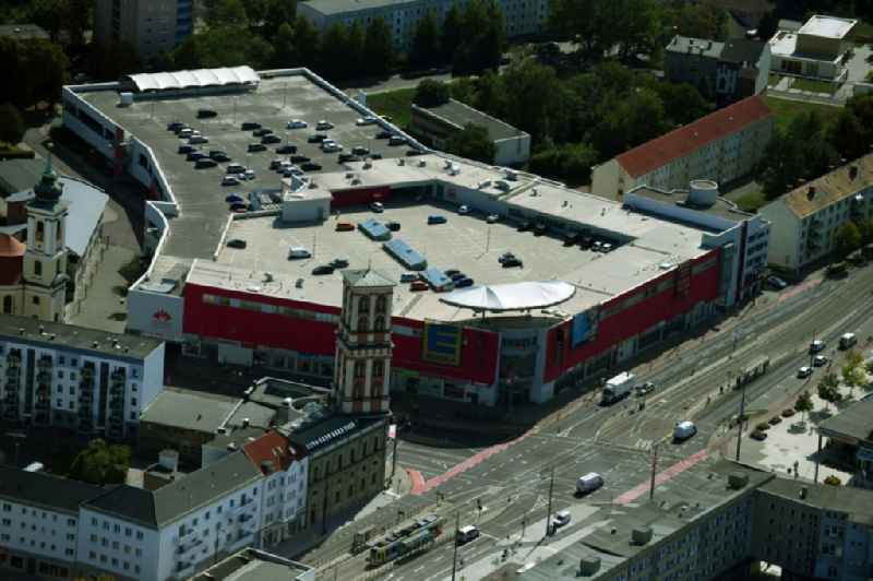 Building of the shopping center Dessau-Center on Franzstrasse in Dessau in the state Saxony-Anhalt, Germany