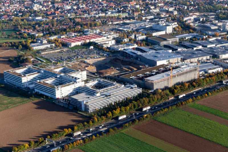 Industrial and commercial area Thales Deutschland, Trumpf- Laser and Systemtechnik in Ditzingen in the state Baden-Wurttemberg, Germany