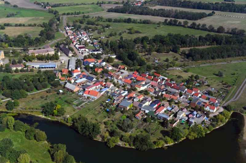 Village view in Dornburg in the state Saxony-Anhalt, Germany