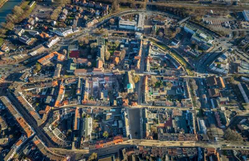Old Town area and city center in Dorsten in the state North Rhine-Westphalia, Germany