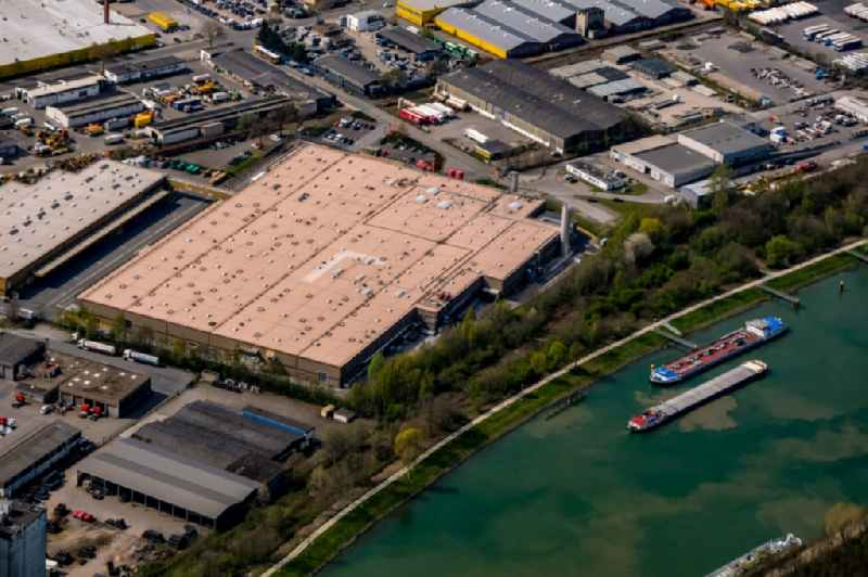 Building complex and grounds of the logistics center of ' van Eupen Logistik GmbH & Co. KG ' on Rudolf-Diesel-Strasse in Dorsten in the state North Rhine-Westphalia, Germany