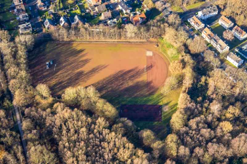 Sports grounds and football pitch on Knappenweg in Dorsten at Ruhrgebiet in the state North Rhine-Westphalia, Germany