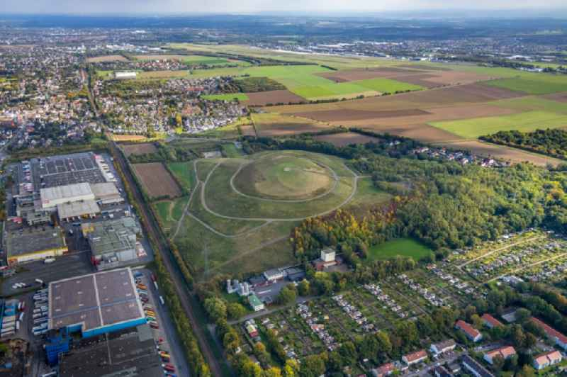 Renovation, sealing and restoration work on the site of the refurbished landfill in the district Kolonie Neuasseln in Dortmund in the state North Rhine-Westphalia, Germany.