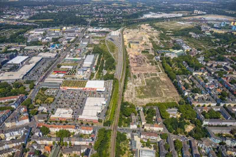 Demolition work on the site of the Industry- ruins in the district Westfalenhuette in Dortmund in the state North Rhine-Westphalia, Germany