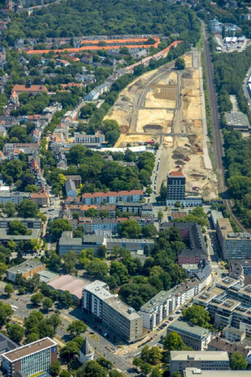 Development area and building land fallow on Heiliger Weg in Dortmund in the state North Rhine-Westphalia, Germany