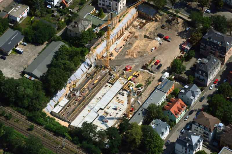 Construction site for the multi-family residential building ' Urban Village Dresden ' in of Koenigsbruecker Strasse in the district Aeussere Neustadt in Dresden in the state Saxony, Germany