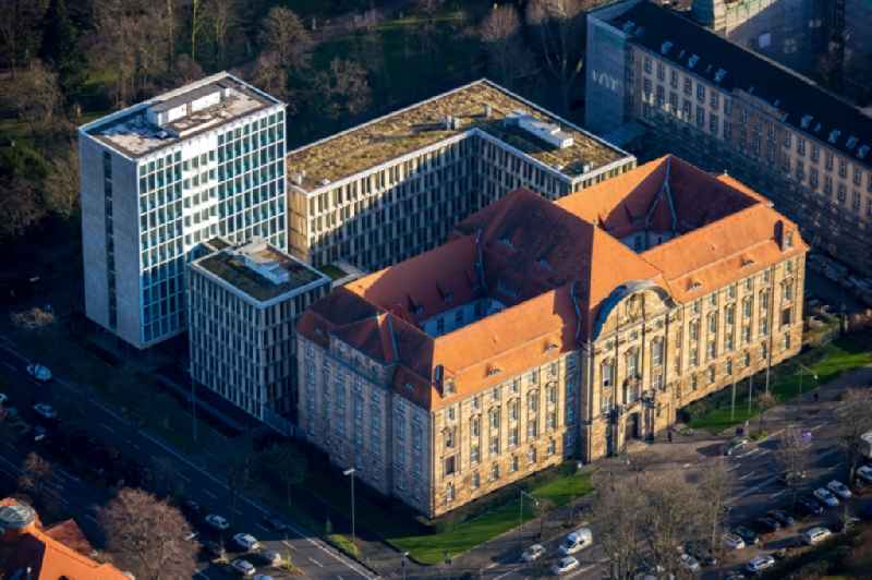 Court- Building complex of the ' Oberlandesgericht Duesseldorf ' on Cecilienallee in Duesseldorf in the state North Rhine-Westphalia, Germany