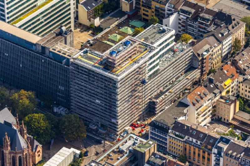 Construction site of banking administration building of the financial services company ' Rheinischer Sparkassen- und Giroverband, Duesseldorf ' in Duesseldorf in the state North Rhine-Westphalia, Germany