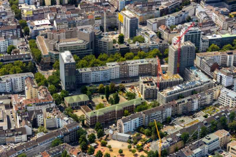 Construction site to build a new multi-family residential complex of ' PANDION AG ' on Klosterstrasse - Oststrasse - Immermannstrasse in Duesseldorf in the state North Rhine-Westphalia, Germany