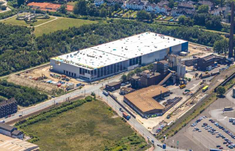 Construction site to build a new building complex on the site of the logistics center on Ehringer Strasse in the district Wanheim - Angerhausen in Duisburg in the state North Rhine-Westphalia, Germany
