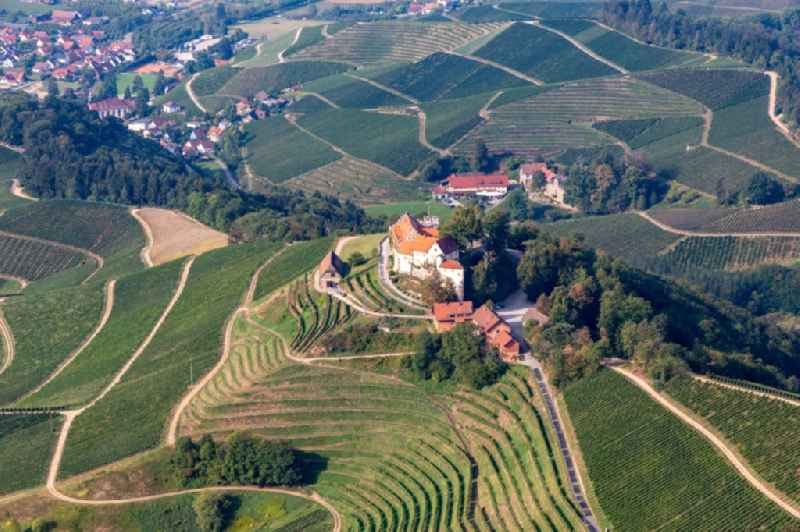 Castle winery and restaurant Schloss Staufenberg in Durbach in the state Baden-Wuerttemberg, Germany