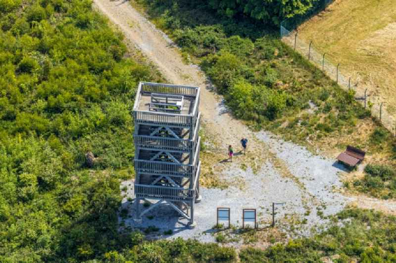 Structure of the observation tower Ebberg in Eisborn in the state North Rhine-Westphalia, Germany