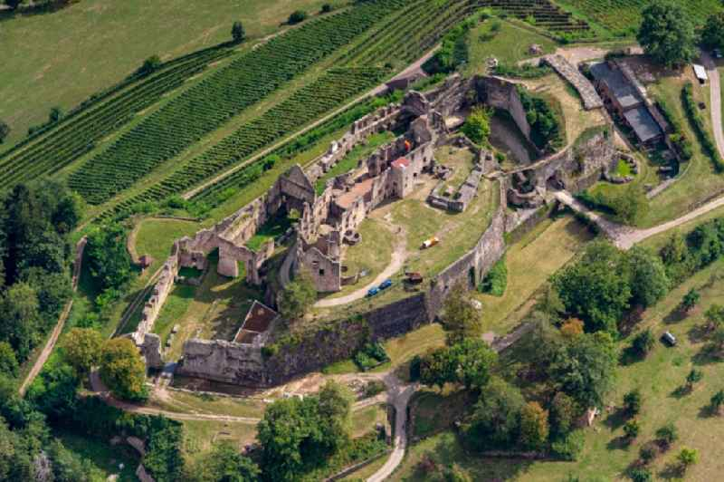 Ruins and vestiges of the former castle and fortress Hochburg in Emmendingen in the state Baden-Wurttemberg, Germany