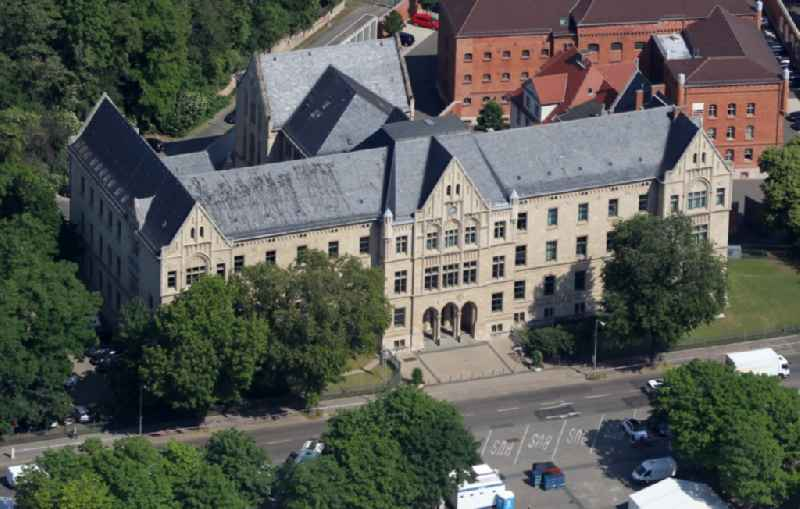Court- Building complex of the Landgerichtes Erfurt in Erfurt in the state Thuringia, Germany
