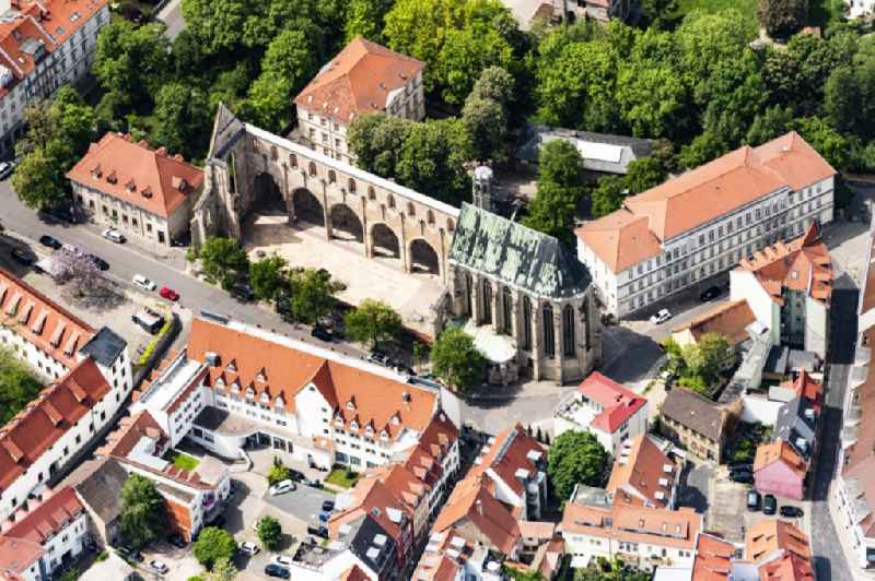Church building of Barfuesserkirche in Erfurt in the state Thuringia, Germany.